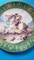 Limoges porcelain: Napoleon on horseback