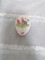 Herendi porcelán kakasos tojás bonbonier