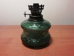 Zöld üveges petróleum lámpa