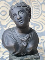 Bronze female bust, lost wax casting