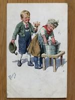Antik képeslap - 1922