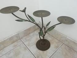 Fém 3 ágú asztali gyertyatartó