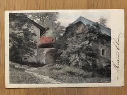 Antik színezett képeslap - 1903
