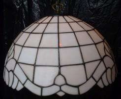 Tiffany fehér burás csillár lámpa