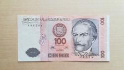 Peru 100 Intis 1987