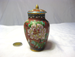 Small copper vase with lid glazed g 57/1