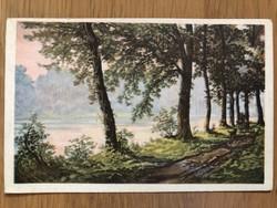 Antik képeslap - postatiszta