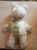 Craft teddy bear with striped scarf!