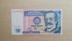 Peru 10 Intis 1987