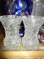 Kristály váza párban