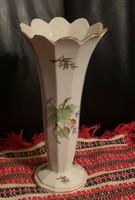 Antik Herendi váza kézzel festett mintával