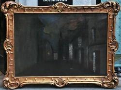 Mednyánszky László (Beckó, 1852-1919, Bécs) Esti fények
