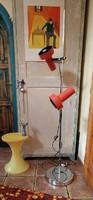 Retro designe floor lamp: orange and metal