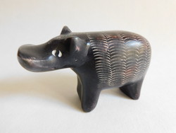 Primitive form, ethno decor - fat stone hippopotamus