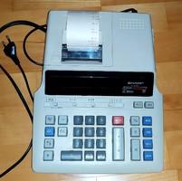 Retro calculator sharp el 2630 l works +10 rolls of paper