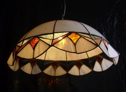 Tiffany colored envelope chandelier lamp