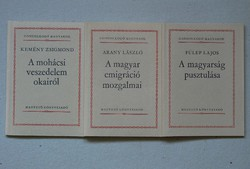 3 seed books in one, gold l., Fülep l., Kemény zsigmond: on the causes of the Mohács danger 1983.