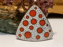 Soviet fire enamel brooch