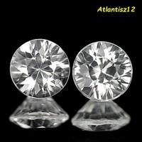 Brilliant! Genuine, 100% natural white (colorless) zircon gemstone pair 1.50ct (vvs-vsi) !!