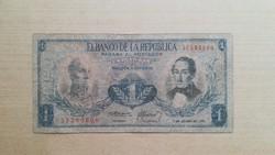 Kolumbia 1 Peso 1973