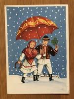 Aranyos Újévi képeslap - 1955