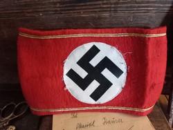 Német, náci NSDAP  karszalag, szép állapotban!