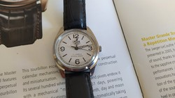 Men's watch with oris inscription.
