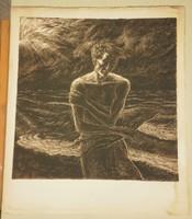 Baja Benedek (1893-1953) : Sötét vizek partján (Nagy méret!)