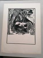 Molnár c. Paul: The Love of the Book - Woodcut
