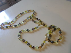 102 cm, very beautiful, necklace made of old, handcrafted glass beads.