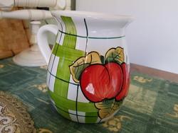 Glazed ceramic jug. Cup