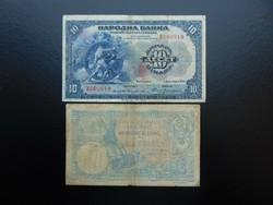 Szerbia 10 dinár 1893 - 10 dinár 1920 LOT !