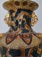 Kínai 47 cm váza eladó arany festésű