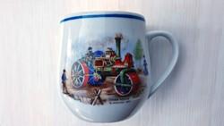 6 db Hollóházi teás csésze és 6 db. csészealj. Nagyon ritka, régi,  retro.