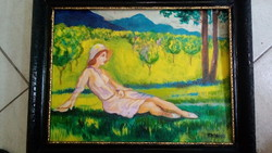 Antique sign beautiful painting !!!!!!!!