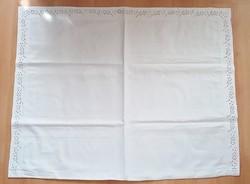 Antique pillowcase monogrammed old bedding lacy azure 2 pcs