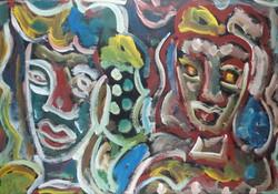 Miklós Cs. Németh 70 x 100 cm oil, cardboard