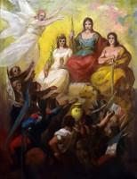 Freedom (fight) revolution - allegorical scene around 1870 oil on canvas!