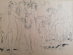 Charles Reich / (1922-1988) / ink drawing 1969