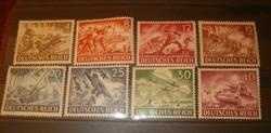 Kb 1944 Deutsches Reich német bélyeg sor részlet wermach napja  III. Birodalom