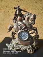 Copper fireplace clock