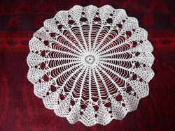 Hand crochet lace tablecloth