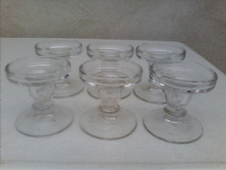 Six glass candle holders