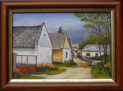 KAPOLCSI UTCA, SÁRFÉ - tájkép (17,5x12,2 cm)
