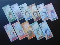 Venezuela 11 darab bolivár LOT !