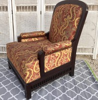 Oriental, special, unique armchair with a beautiful openwork pattern at the bottom