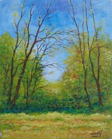 Great Plain forest - landscape (24x29.9 cm)