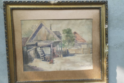 Antique painting: highland courtyard