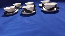 Retro raven house black white penguin cup sets