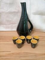 Pond head with ceramic brandy